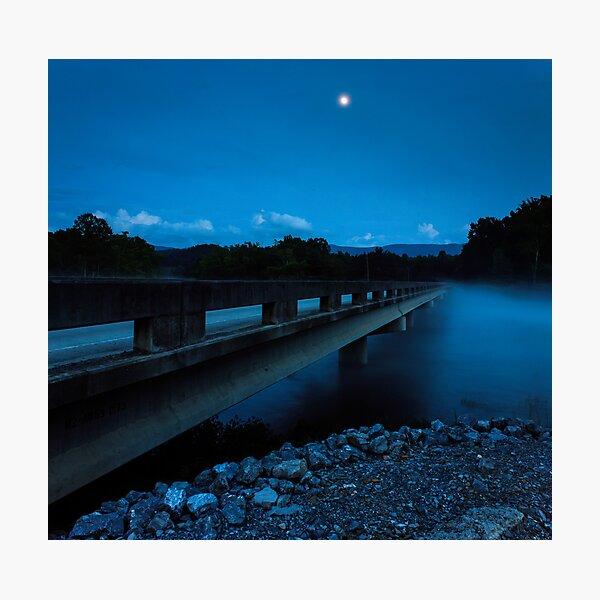 Bridge and Moon Photographic Print