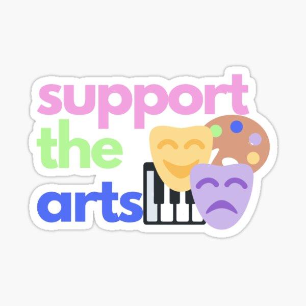 Support the Arts Sticker Sticker