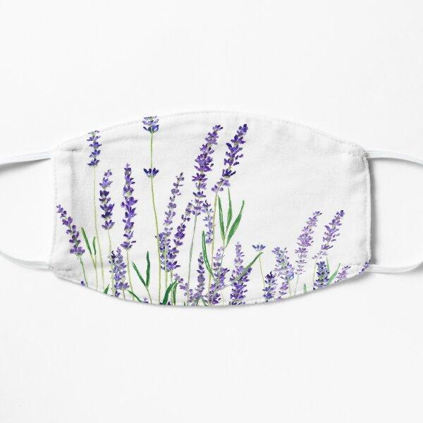purple lavender horizontal watercolor Flat Mask