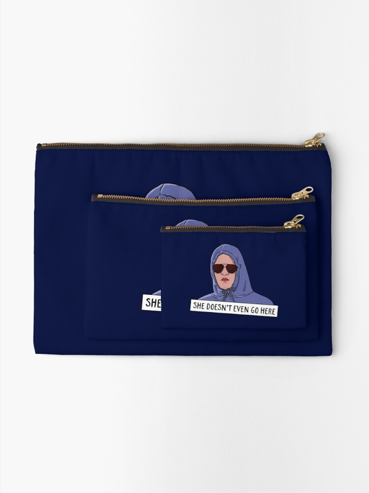 Alternate view of SHE DOESN'T EVEN GO HERE Zipper Pouch