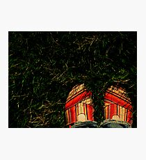 Shoes in the Grass Photographic Print