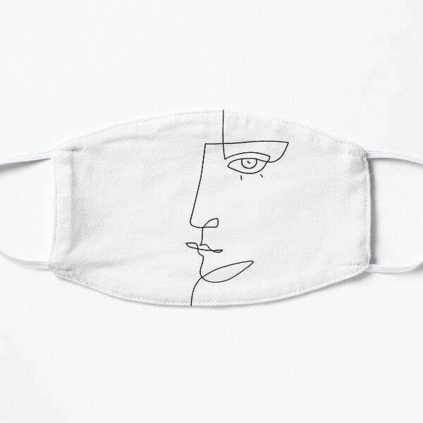 Abstract Face II - Line Art Flat Mask