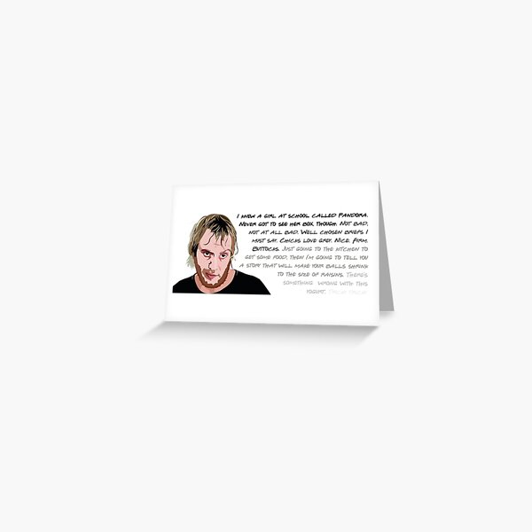 Spike, Notting Hill, Rhys Ifans QUOTES Greeting Card