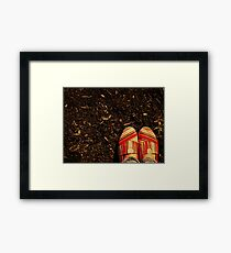Shoes in the Mulch Framed Print