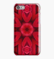 Kaleidoscope Red Red Rose iPhone Case/Skin