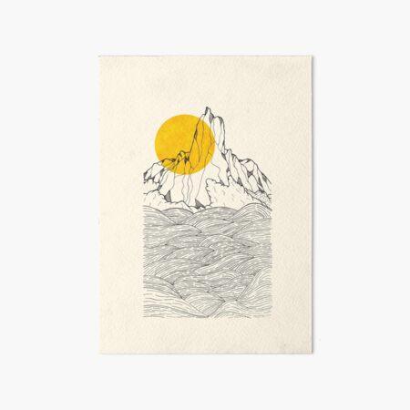 The peak and the waves Art Board Print