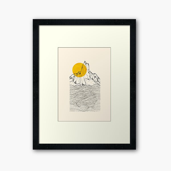 The peak and the waves Framed Art Print