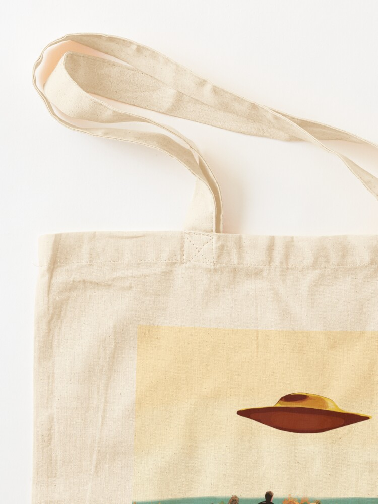Alternate view of The X Files I want to believe FBI poster  Tote Bag