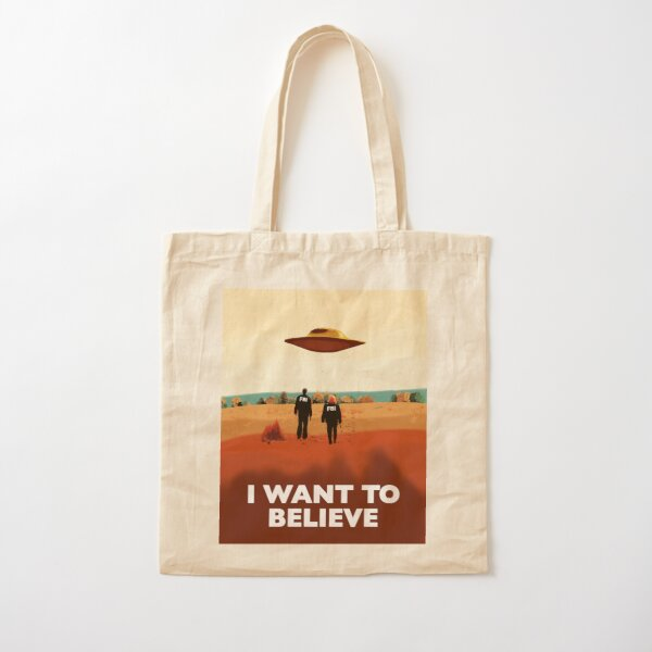 The X Files I want to believe FBI poster  Cotton Tote Bag