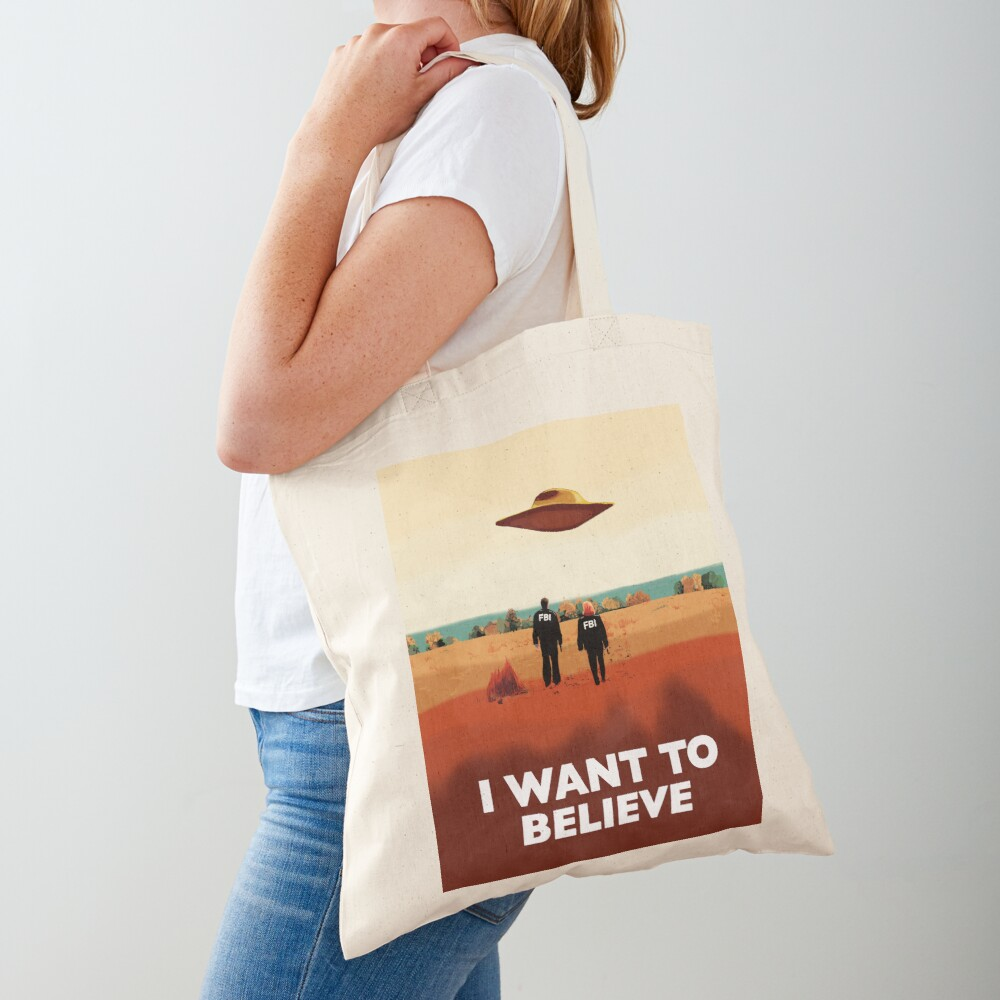 The X Files I want to believe FBI poster  Tote Bag