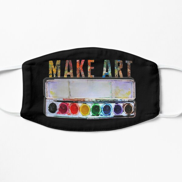 MAKE ART  Funny Artist Painting Teacher Humor gifts Mask