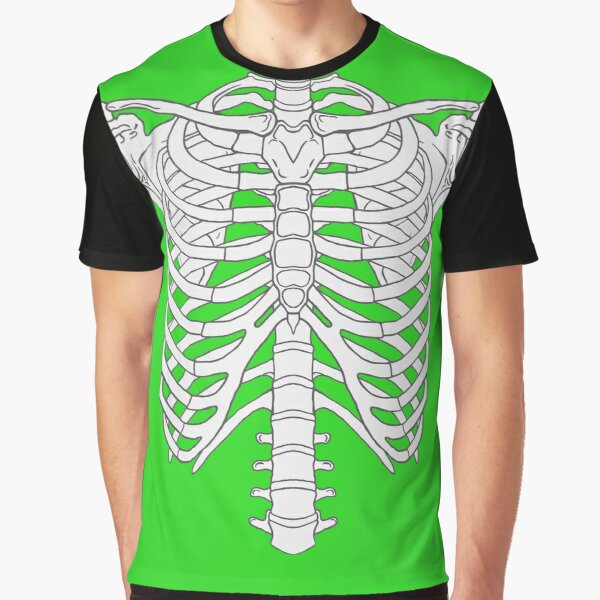 Rib Cage Greenscreen, funny Design for Homeoffice Videoconference  Graphic T-Shirt