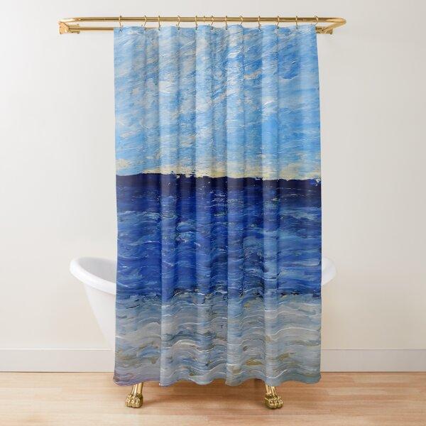 Einfache Seelandschaft / Acrylbild Duschvorhang
