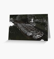 Row of boats - Dedham Greeting Card