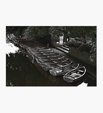 Row of boats - Dedham Photographic Print