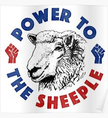 Power To The Sheeple Poster