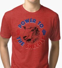 Power To The Sheeple Tri-blend T-Shirt