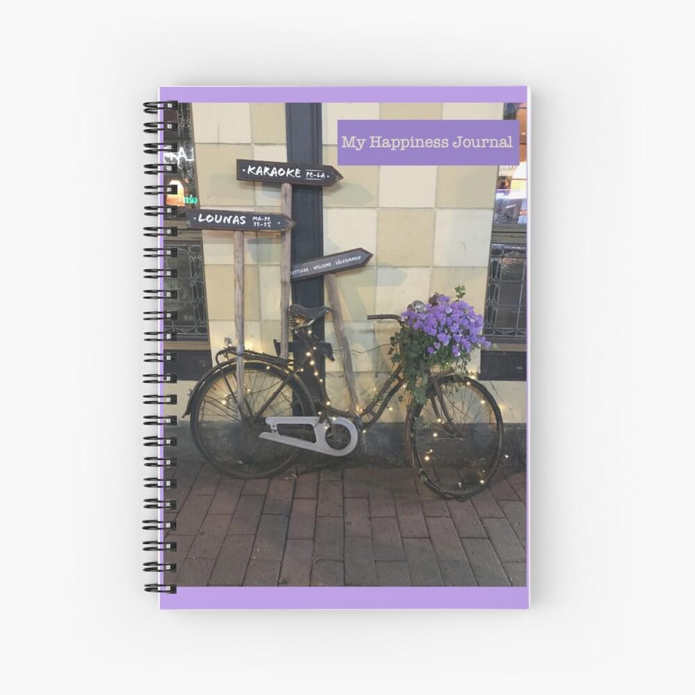 My Happiness Journal / Happy Bike Spiral Notebook