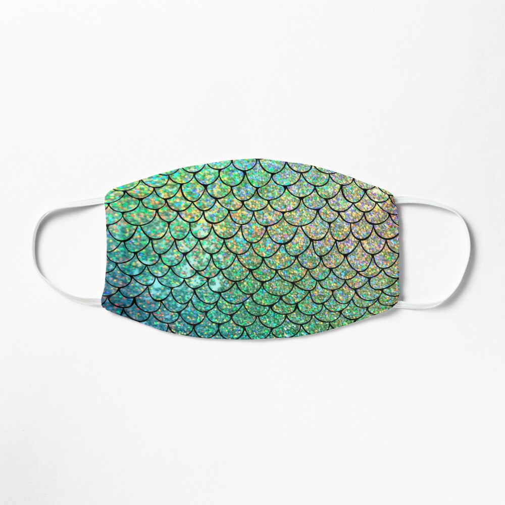 Colorful Glitter Mermaid Scales Mask