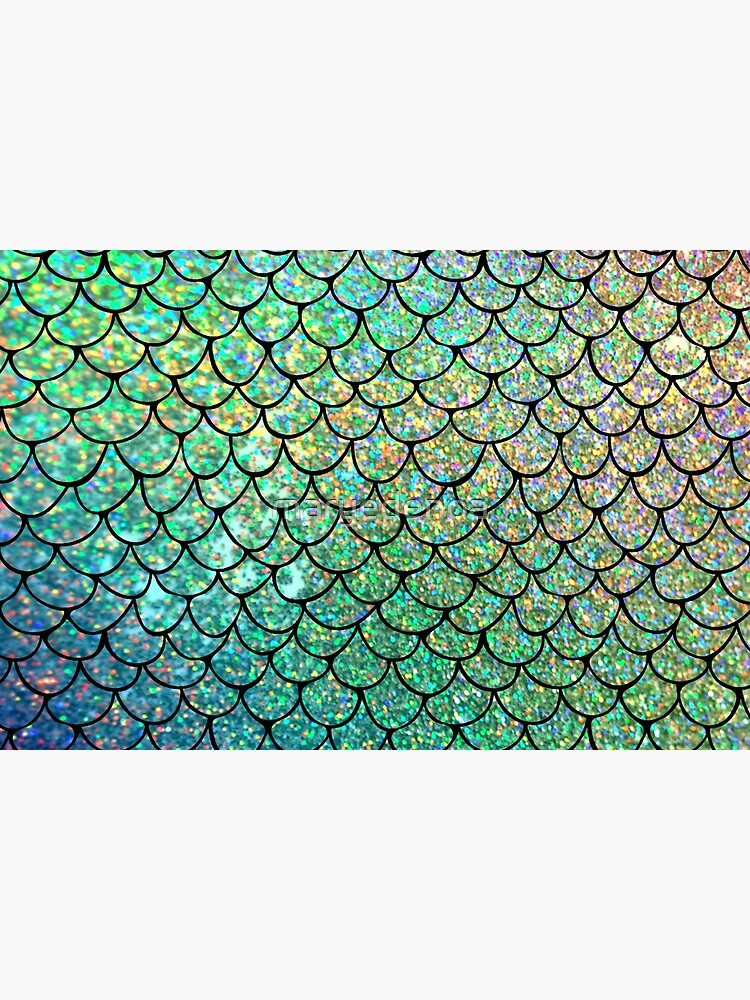 Colorful Glitter Mermaid Scales by maryedenoa