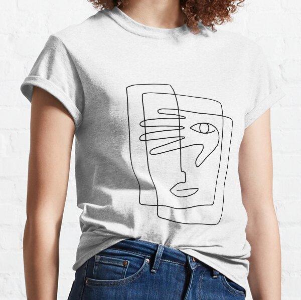 Square Face Line Art Classic T-Shirt