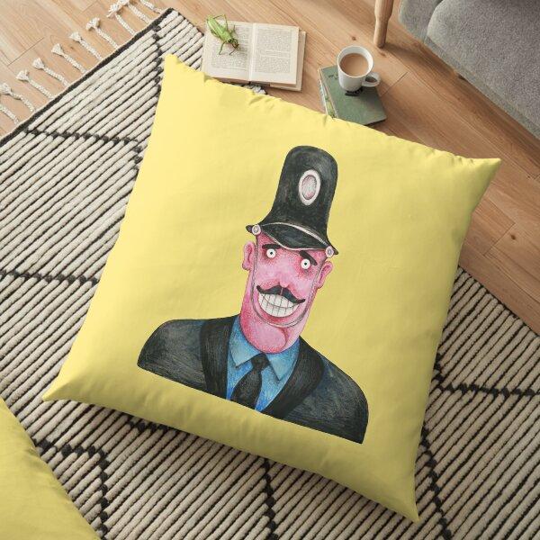 policier sous-marin jaune Coussin de sol