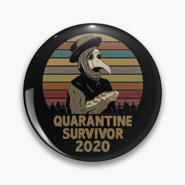 Plague Doctor Quarantine Survivor 2020 Vintage Pin