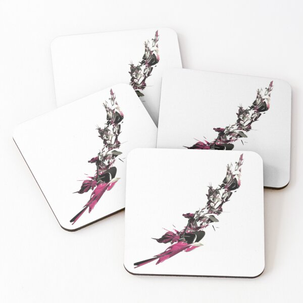 Abstract art, lines, beautiful 3D lines Coasters (Set of 4)