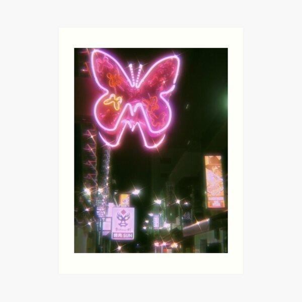 butterfly aesthetic sparkle print Art Print