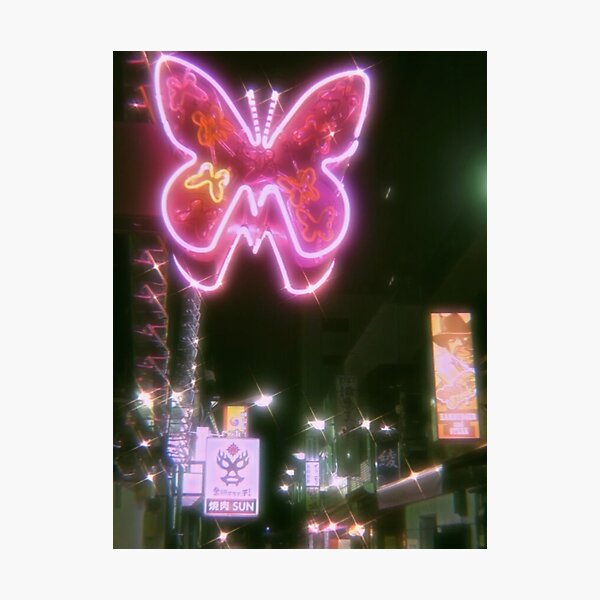 butterfly aesthetic sparkle print Photographic Print