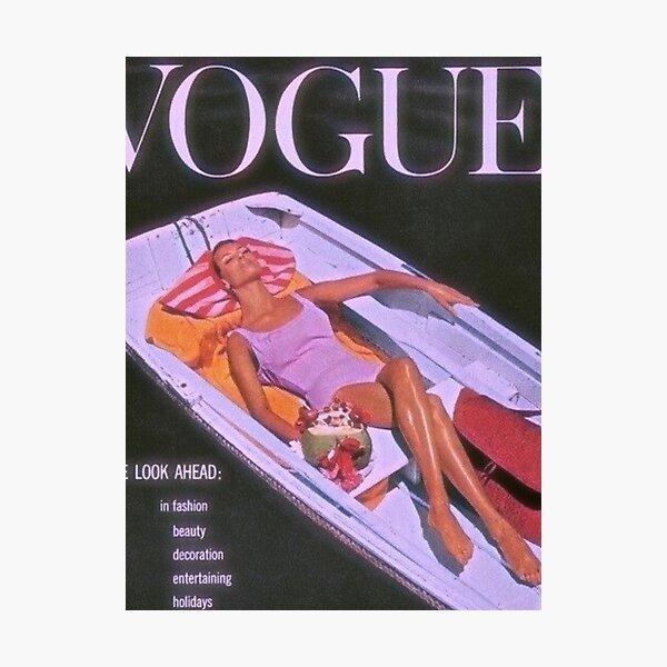 VOGUE vintage magazine print  Photographic Print
