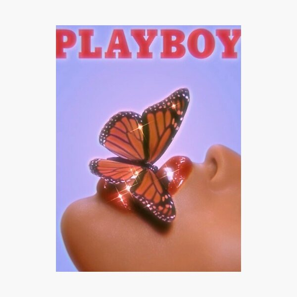 playboy butterfly print  Photographic Print