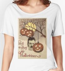 Best wishes (Vintage Halloween Card) Women's Relaxed Fit T-Shirt