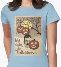 Best wishes (Vintage Halloween Card) Womens Fitted T-Shirt