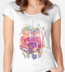 Building Clouds Women's Fitted Scoop T-Shirt
