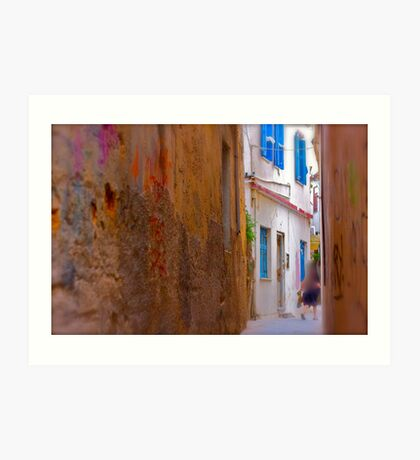 My impressionistic fleeting moment of time . by  Doktor Faustus. 3 favoritings 93 views . I'm feeling so good ! Yeah ! Art Print