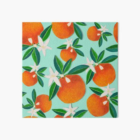 Vintage Oranges mint green palette Art Board Print