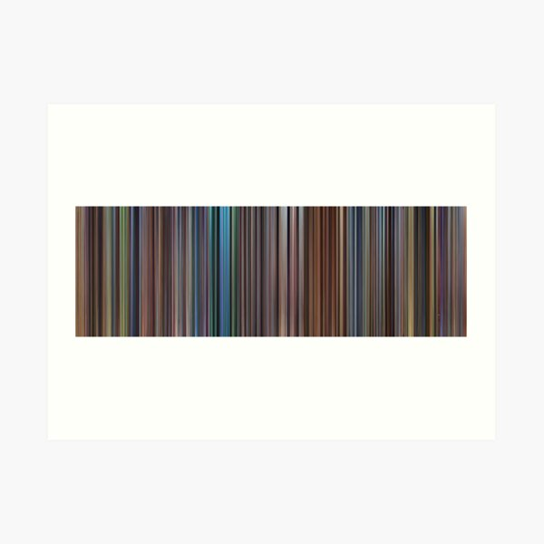 Moviebarcode: The Complete Pixar Feature Films (1995-2011) Art Print