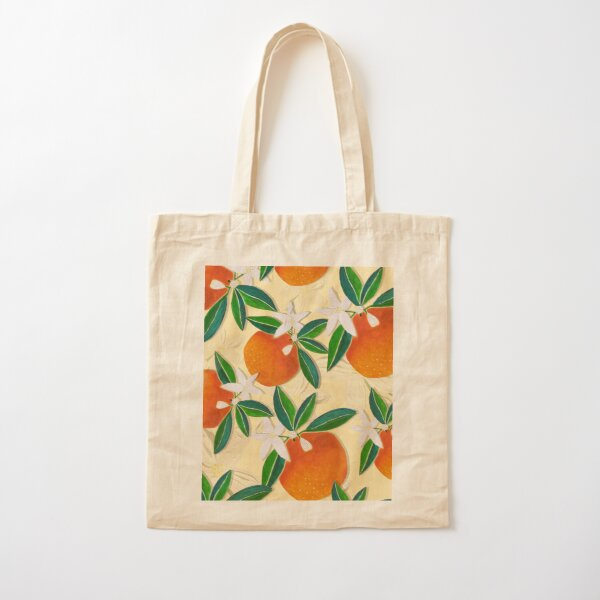 Vintage Oranges pastel yellow palette Cotton Tote Bag
