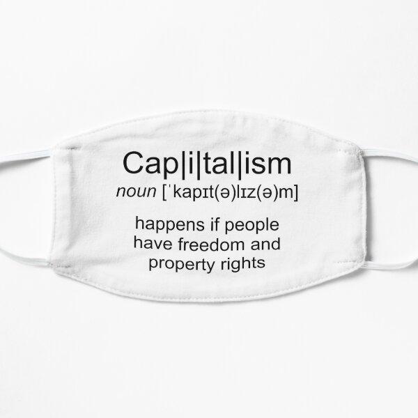 Definition of capitalism Flat Mask