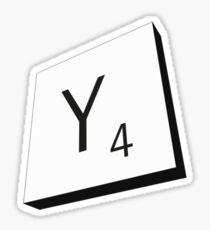 Y Sticker