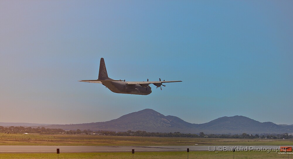 C130J Hercules False Landing by LJ_©BlaKbird Photography