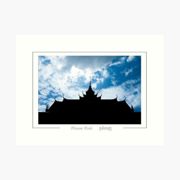 Phnom Penh Cambodia Silver pagoda. Art Print