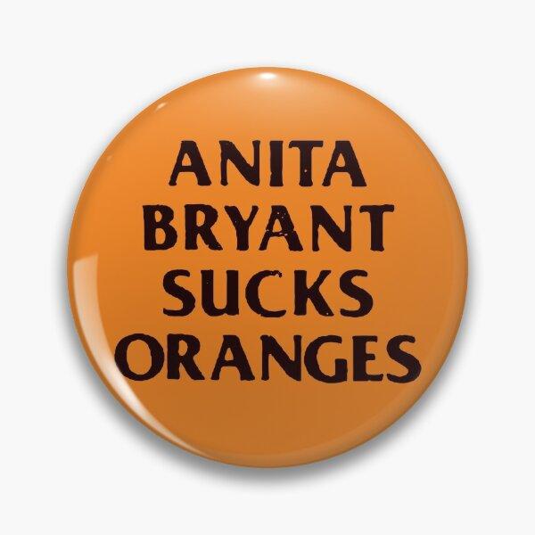 Retro 1977 LGBT+ Protest Slogan: Anita Sucks Pin