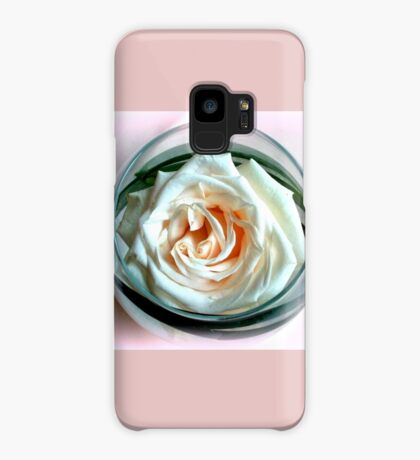 White Rose in Glass Case/Skin for Samsung Galaxy