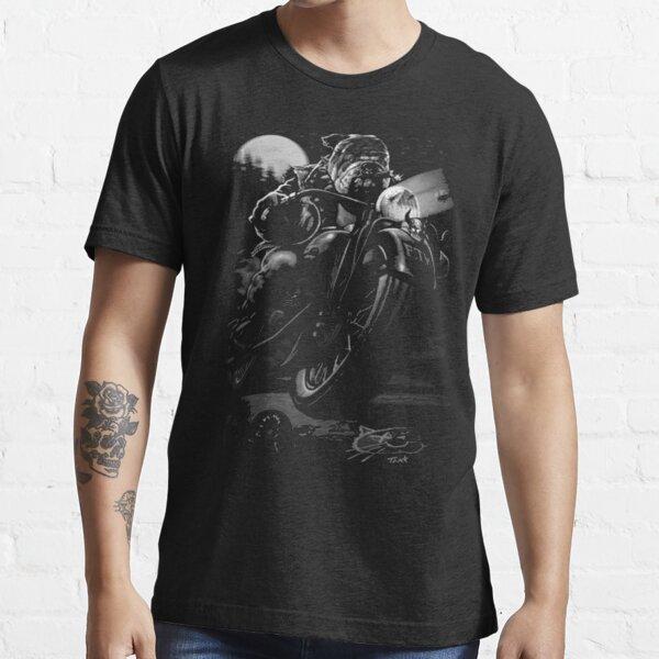 Cats Suck Bulldog On Chopper Motorcycle Essential T-Shirt