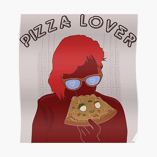 Pizza Lovers ver 2 red Poster