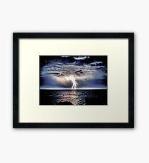 Heavy Weight Lightning Framed Print