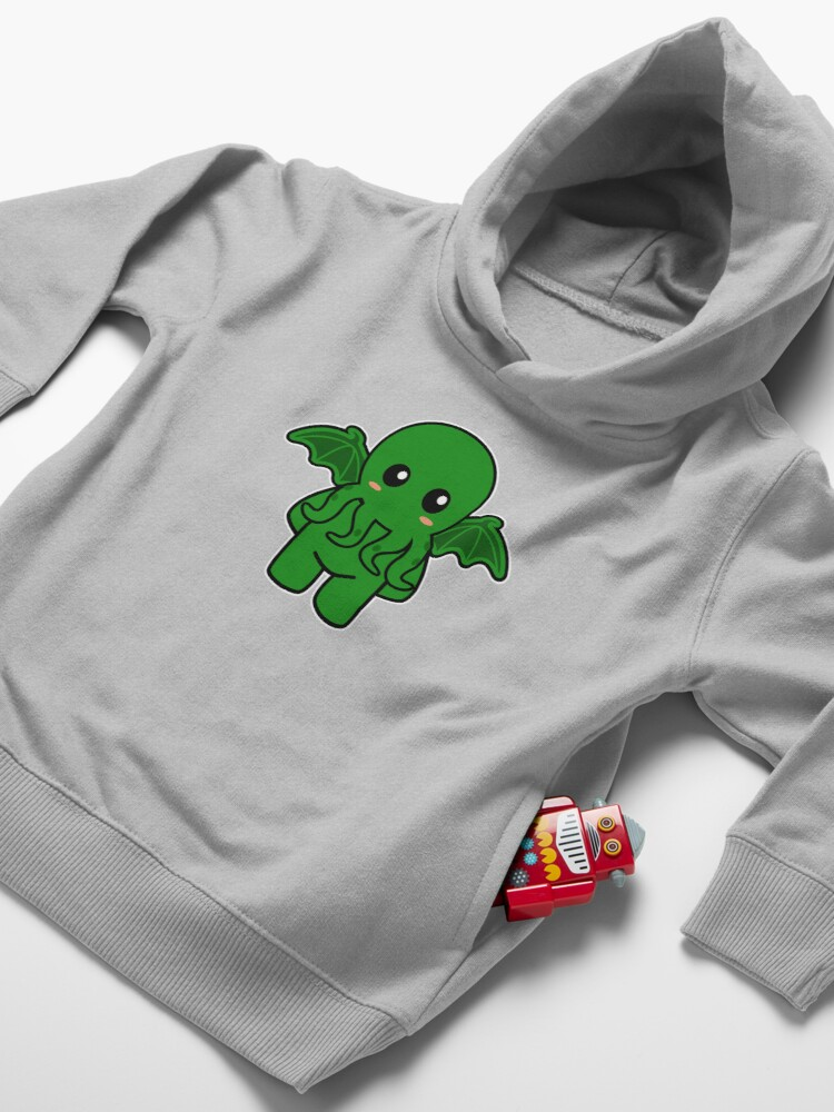 Alternate view of Cute Cthulhu Toddler Pullover Hoodie