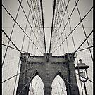 Brooklyn Bridge - New York City   B/W - iPhone/iPod von thomasrichter